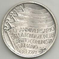 Politica, 50° Fondazione Partiro Comunista Italiano, Ag. Gr. 12, Cm. 3. - Italia
