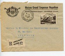 ENVELOPPE 1950 MAISON GRAND EMPEREUR NAPOLEON A CAUDERAN GIRONDE - Publicités