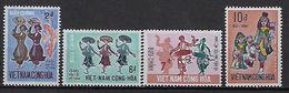 """Viet-Sud YT 390 à 393 """" Danses Traditionnelles """" 1971 Neuf** MNH - Viêt-Nam"""