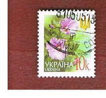 UCRAINA (UKRAINE)  -  MI 495AIII   -  2005  FLOWERS: HOLLYHOCKS  10  -   USED - Ucraina