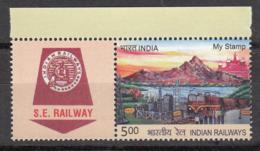 My Stamp Indian Railways 25 KV AC Traction, Energy, Train, Elephant, Transport, Etc., 2019 (Without Top Tab) - Eisenbahnen