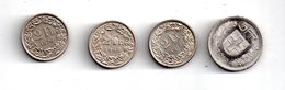 4 Pièces Suisse - De 2 Francs Et 5 Francs--voir état - Suisse