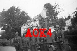 1940 TARGNON Stoumont Wehrmacht Vormarsch XXVII Armeekorps Gulaschkanone Cuisine Roulante - Guerre, Militaire