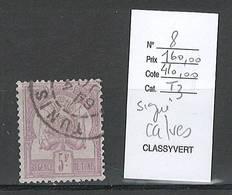 Tunisie - Yvert 8 - SIGNE CALVES -  25% DE LA COTE - 5 Francs- Oblitéré - Used Stamps
