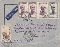 LETTRE . MADAGASCAR. PAR AVION. 1948. 12Fr . DIEGO SUAREZ POUR PARIS    / 2 - Madagascar (1889-1960)