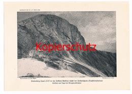554 Gutenberghaus Sektion Austria Dachstein Alpenverein Berghütte Kunstblatt Druck 1919 !!! - Unclassified
