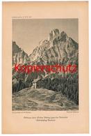 555 Mödlinger Hütte Reichenstein Sektion Mödling Alpenverein Berghütte Kunstblatt Druck 1919 !!! - Unclassified