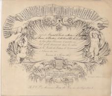 """LEUVEN-LOUVAIN""""UITNODIGING BAL-INVITATION BAL-1867-SOCIETE DE LECTURE""""LITH.J.LIBERT-203/175MM - Porcelaine"""