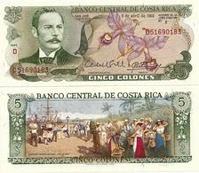 COSTA RICA       5 Colones       P-236d       7.4.1983       UNC - Costa Rica