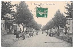 QUEVAUVILLERS - Rue Sainneville (beau Cliché Animé, Boucherie, Groupe D'enfants) - Francia