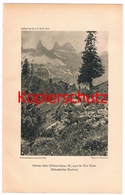 556 Lindauer Hütte Sektion Lindau Alpenverein Berghütte Kunstblatt Druck 1919 !!! - Unclassified