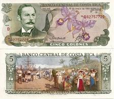 COSTA RICA       5 Colones       P-236e       15.1.1992       UNC - Costa Rica