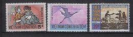 """Viet-Sud YT 410 à 412 """" Développement Poste Rurale """" 1971 Neuf** MNH - Viêt-Nam"""