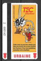 Carte De Transport - TEC - BD Astérix Et Obélix - Transport En Commun Belgique - Urbaine - 2002 - Bus