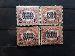 ITALIA / Italie / Italy / Italien 1878,4 Timbres Service Surchargés 2 C,  Yvert N° 27, 29, 30 , 31 BTB Cote 25 Euros - 1861-78 Vittorio Emanuele II