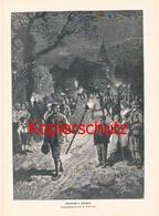 563 F Schlegel Osterbrauch In Kärnten Ostern Druck 1887 !!! - Gegraveerde Prenten