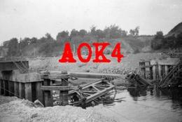1940 ANTOING Hainaut Ruines Escaut Pont Ecluse Wehrmacht Vormarsch XXVII Armeekorps Occupation Allemande - Oorlog, Militair