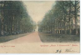 """Baarn - Oprijlaan """" Huize 't Groeneveldt """" - Uitg. Firma J.J.E. Janssen - 1904 - Baarn"""