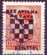 KING PETER II-0.50 DIN-OVERPRINT NDH-HRVATSKA-ERROR-CROATIA-1941 - Kroatien