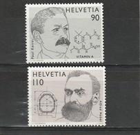 Suisse Neuf **  1997  N° 1555/1556   Prix Nobel. Emission Conjointe Avec La Suède - Neufs