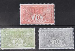 Q 267 ++ NETHERLANDS  1906  NVPH NR. 84/86 HINGED PLAK(REST) SCHARNIER - Nederland