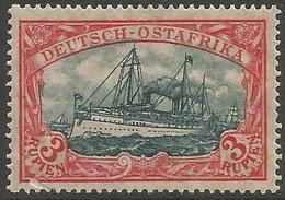 German East Africa - 1908 Kaiser's Yacht 3r MH *   Sc 41 - Colony: German East Africa