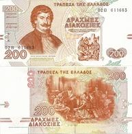 GREECE       200 Drachmes       P-204       2.9.1996       UNC - Greece