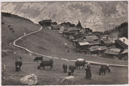 Suisse  Grimentz Val D'anniviers En Champ  Le Long Du Bisse - VS Wallis