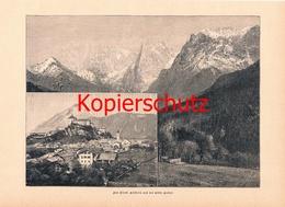 574 Kufstein Und Wilder Kaiser 2 Bilder Druck 1897 !!! - Unclassified