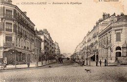 Châlon-sur-Saône. Boulevard De La République. - Chalon Sur Saone