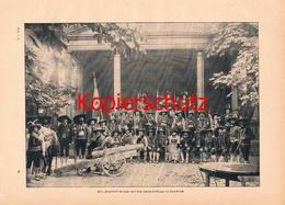 575 Senseler Gruppe Schützenfestzug Innsbruck Druck 1897 !!! - Other