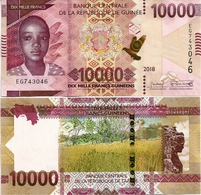 GUINEA      10,000 Francs      P-New       2018      UNC  [ 10000 ] - Guinea