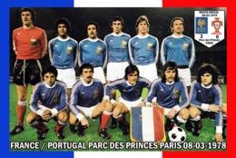 CARTE DE L'EQUIPE DE FRANCE.  Contre Le PORTUGAL  LE. 08-03-1978 # CE.121 - Voetbal