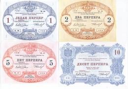 Montenegro 7 Note Set 1914 COPY - Yugoslavia