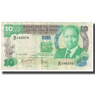 Billet, Kenya, 10 Shillings, 1985, 1985-07-01, KM:20d, TTB - Kenya