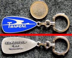 AUGIS Porte-clé Ancien NEUF Cigogne Stylisée Transport TRAPCAL GAMBSHEIM Alsace - Key-rings