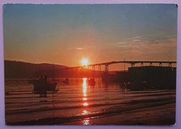 THE MIDNIGHT SUN, TROMSO BRIDGE - Midnattsol. Tromsobrua -  Vg - Norvegia