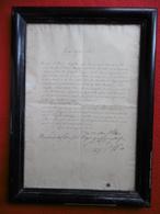 AUTOGRAPHE PAPE PIE IX GIOVANNI MARIA MASTAI FERRETTI A Thérèse BARON De MONTBEL 1864 - Autographs