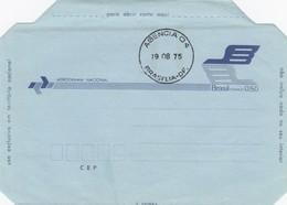 BRASIL -  AEROGRAMME 0.50  AGENCIA D4 19.08.75 BRASILIA-DF.  / 1 - Entiers Postaux