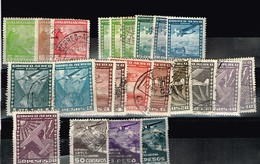 Chili Aviation Anciens Timbres à Identifier - Collections (sans Albums)