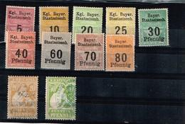 Bavière Anciens Timbres à Identifier - Collections (sans Albums)