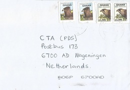 Ghana 2007 Martial Eagle Polemaetus Bellicosus Common Kestrel Falco Tinnunculus Cover - Ghana (1957-...)