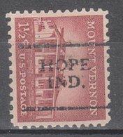 USA Precancel Vorausentwertung Preo, Locals Indiana, Hope 701 - Vorausentwertungen