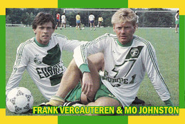 CARTE D'Equipe Du FC. NANTES  . VERCAUTEREN / JOHNSTON  # CE.097 - Voetbal
