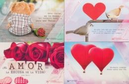2019-EP-2 CUBA 2019 . 14 DE FEBRERO. SAN VALENTIN, LOVE DAY. SPECIAL DELIVERY COMPLETE SET. - Storia Postale