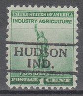 USA Precancel Vorausentwertung Preo, Locals Indiana, Hudson 728 - Vorausentwertungen