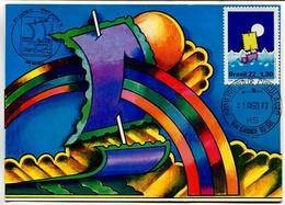DIA DO SELO - BRASIL 1977, TARJETA CARTE FDC PRIMEIRO DIA DE CIRCULAÇAO - LILHU - Brasil