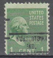 USA Precancel Vorausentwertung Preo, Locals Indiana, Huntertown 734 - Vorausentwertungen