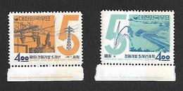 COR003 - 1962 - COREA DEL SUD 1° PIANO DI SVILUPPO QUINQUENNALE YVERT 289/290 - NUOVA! GOMMA INTEGRA ** - Corea Del Sud