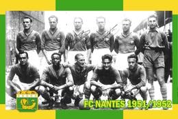 CARTE D'Equipe Du FC. NANTES  . SAISON  1951/1952 # CE.093 - Voetbal